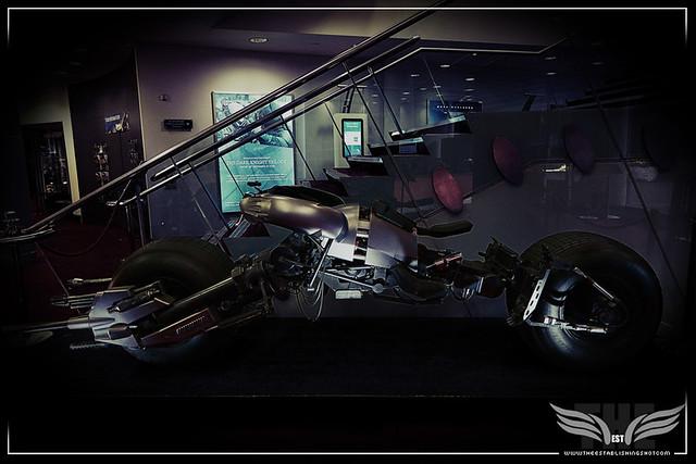 The Establishing Shot: BATMAN'S BAT-POD (THE DARK KNIGHT & THE DARK KNIGHT RISES) - PROP STORE ENTERTAINMENT LIVE AUCTION PREVIEW EXHIBITION - ODEON BFI IMAX, LONDON