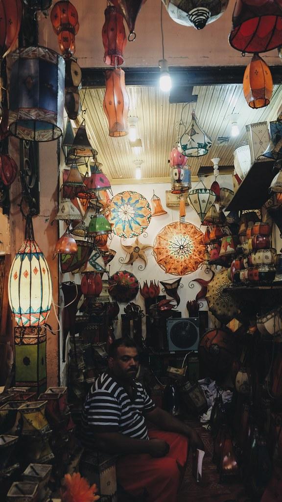 Lamps in Marrakech Medina