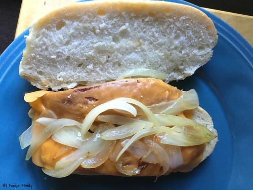 Kielbasa, Onion and Cheese Sandwiches