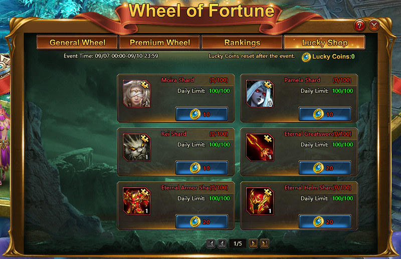 LOA2 Wheel of Fortune - Lucky Shop
