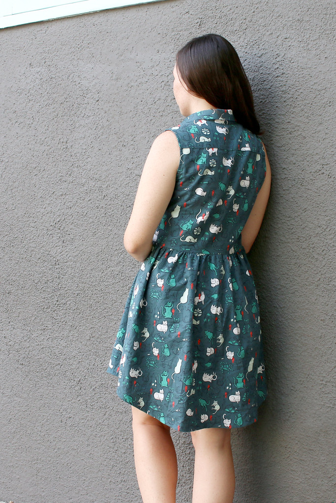 Cat Print Alder Dress