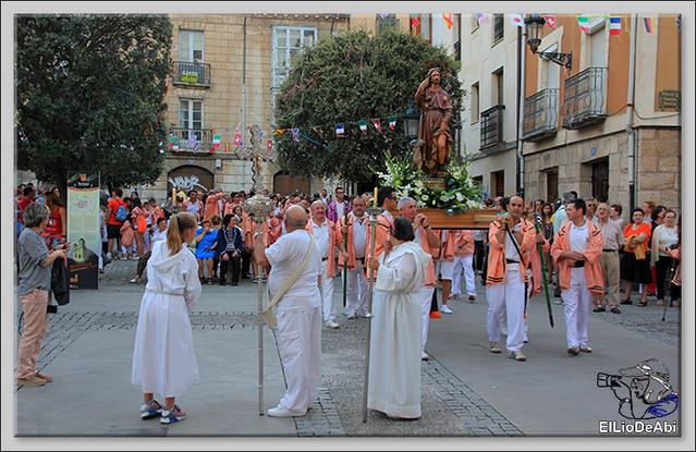 Briviesca Fiestas 2016 Procesión del Rosario y canto popular de la Salve  (9)