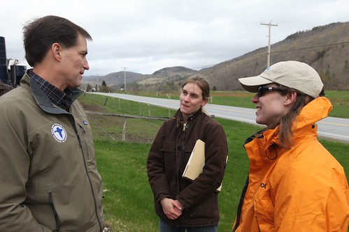 Dan ashe speaks with white river partnership staff at ripa for Vermont fish and wildlife jobs