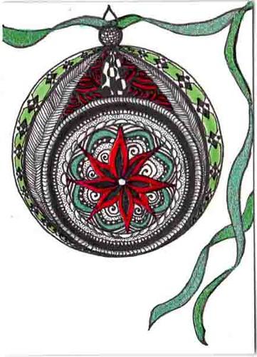 Christmas Zentangle swap - Ornament | ATC Christmas
