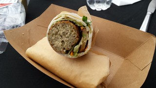 Felafel Wrap from the venue