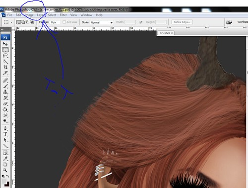 WIP:  Hair drawing with mouse?! | by ♦ harl ♦ (sorta not here..? >_> )