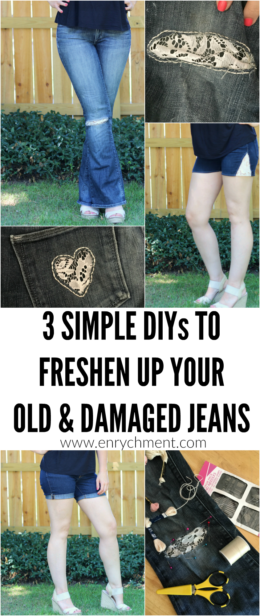 Give your old jeans new life with these 3 simple & pretty DIYs!