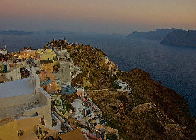Oia evening colors, Santorini, Greece
