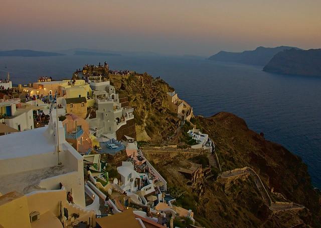 Oia evening colors, Santorini, Greece