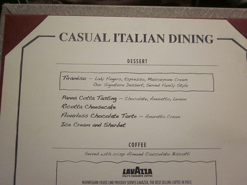 Norwegian star la cucina menu 2 flickr photo sharing for Menu cucina