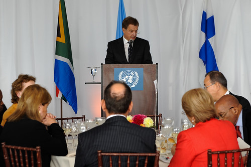 Sauli Niinistö, President of Finland, speaks at the High-level Lunch Event on Strengthening Women's Access to Justice, co-hosted by Finland, South Africa and UN Women | by UN Women Gallery