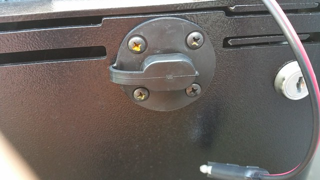 A little rust on the battery box screws