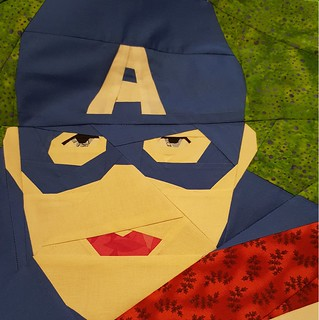 Captain America design by Michelle Thompson