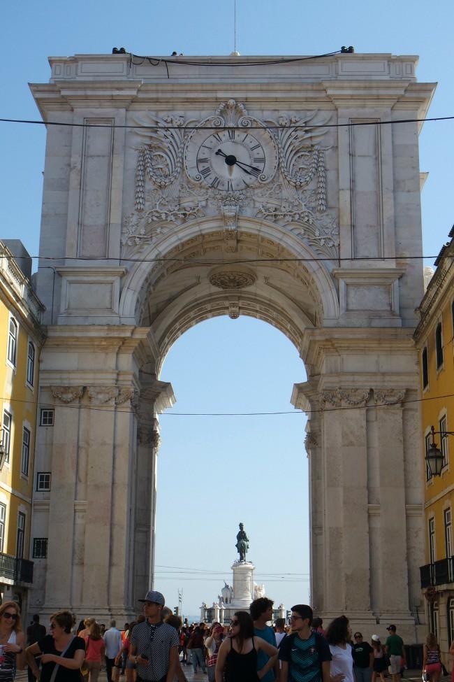 Lisbona -  l'Arco da Rua Augusta
