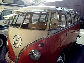 1959 vw van split window pop open windows 16 window vw
