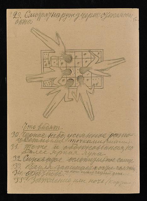コンスタンチン・ツィオルコフスキー|手稿(『宇宙旅行アルバム』より)|1933年|鉛筆、紙|31.1×22.7 cm|所蔵:ロシア科学アカデミー・アーカイブ(ARAS)|ARAS. F. 555. File 84. Sheet 15.