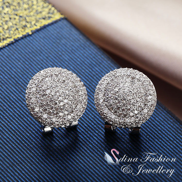 French Clip Halo Stud Earrings Made
