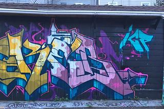 Osage Alley Murals - Purple murals