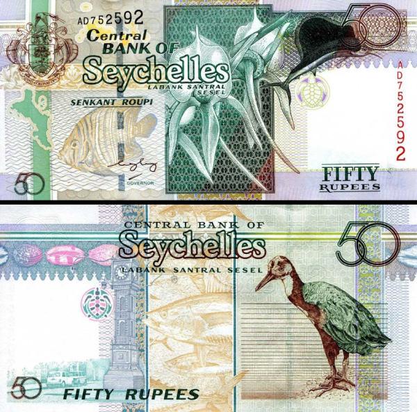 50 Rupií Seychely 1998 (2004), P39A UNC