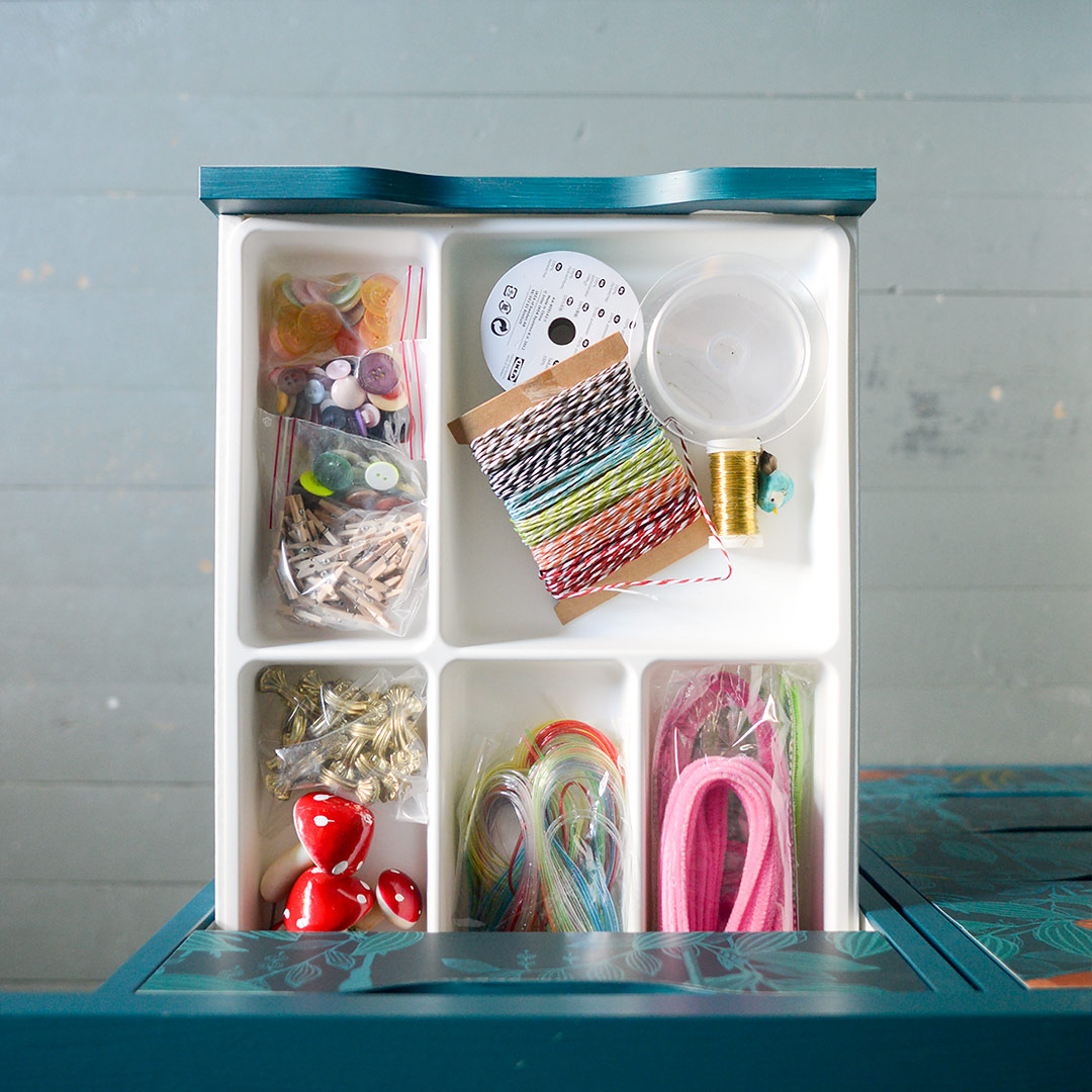 Ikea hack: Organizing the craft supplies