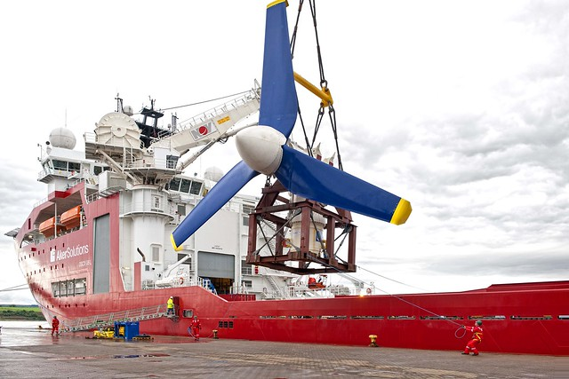 Atlantis deploys a 1 MW tidal turbine at European Marine Energy Centre at Orkney, UK