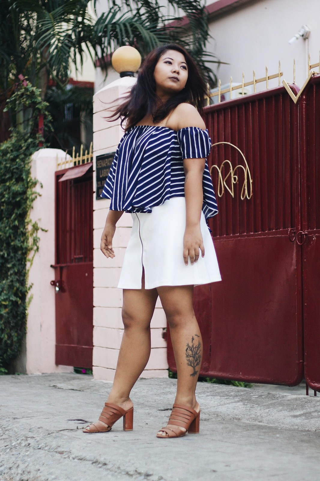Selestyme By Chayanika Rabha Indian fashionblogger wearing Rosegal Off the shoulder top with Mango skirt