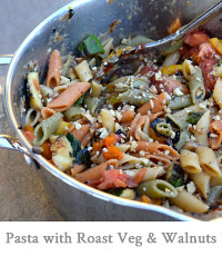 Penne with Roast Vegetables & Walnuts