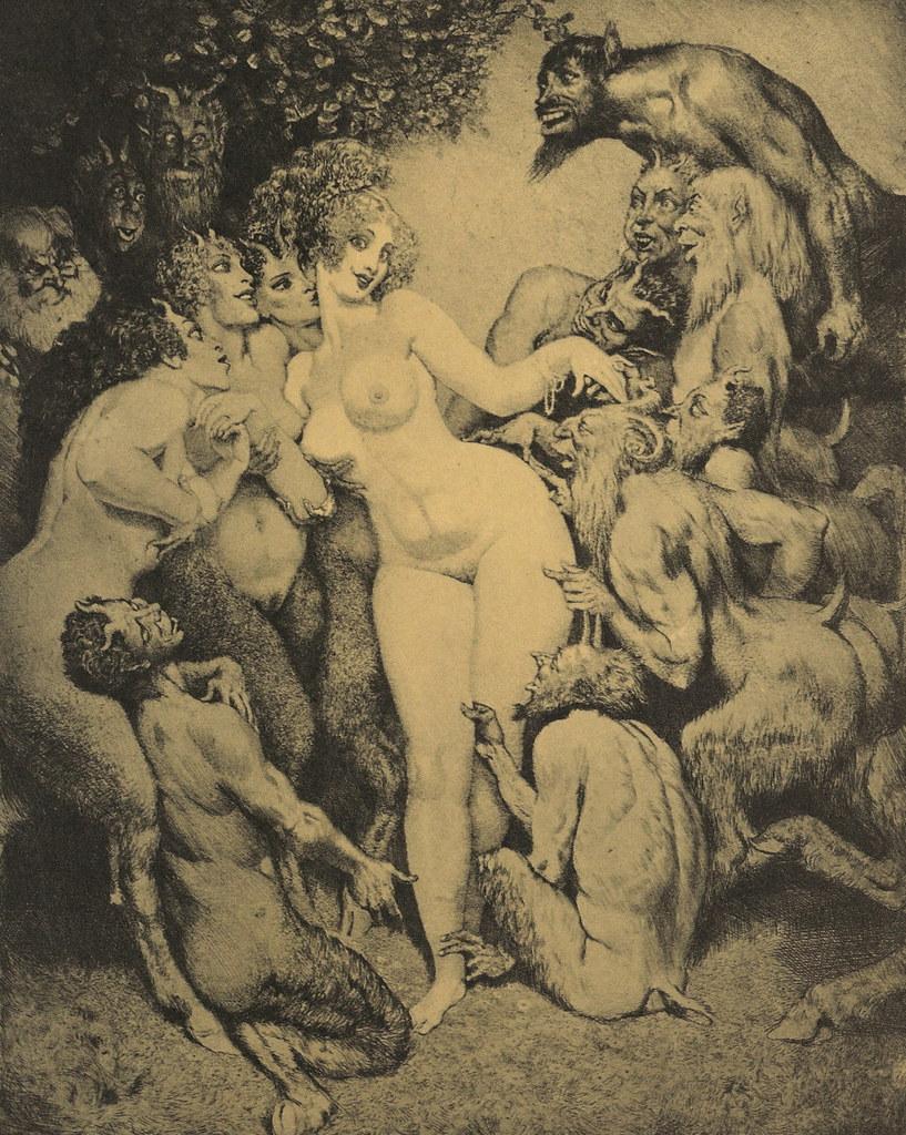 Norman Lindsay - Venus In Arcady, 1938