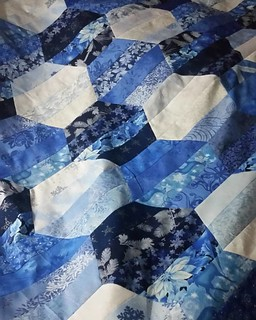 The 2nd Strip Lash quilt top is done, unless I decide to make it a bit bigger.