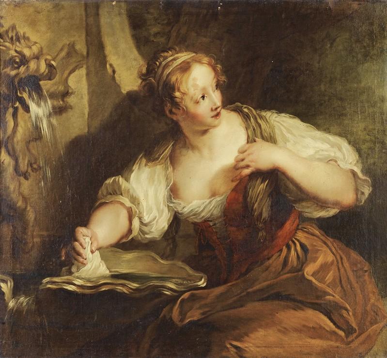 François Lemoyne - Jeune femme à la fontaine
