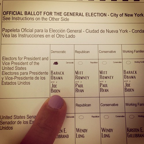 Confirmation! I voted today in Harlem for President Barack Obama! Gosh I love my country! | by HarlemGal Inc