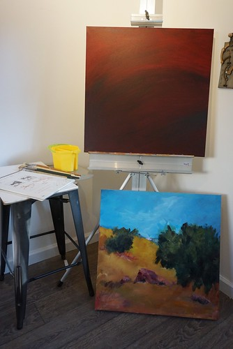 In progress: Santa Teresa diptych