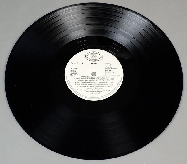 "THE GUN CLUB MIAMI ANIMAL RECORDS 12"" LP VINYL"