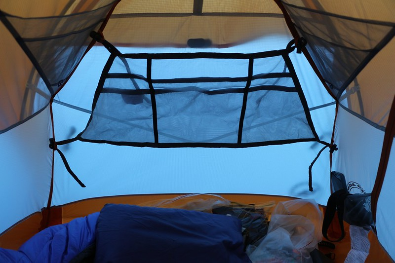 Big Agnes Wall Loft set up in the upper end of my Copper Spur UL1 tent - it fits OK but not sure if I'll use it