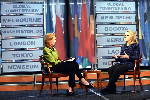 Secretary Clinton Participates in a Global Town Hall