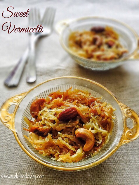 Sweet Vermicelli Recipe for Toddlers and Kids4