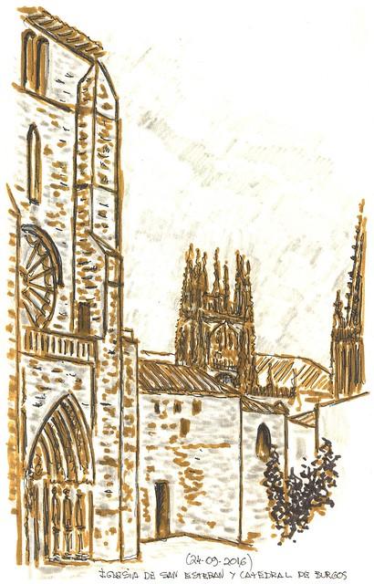 San Esteban y Catedral. Burgos