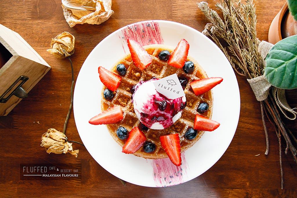 Fluffed Cafe & Dessert Bar waffle