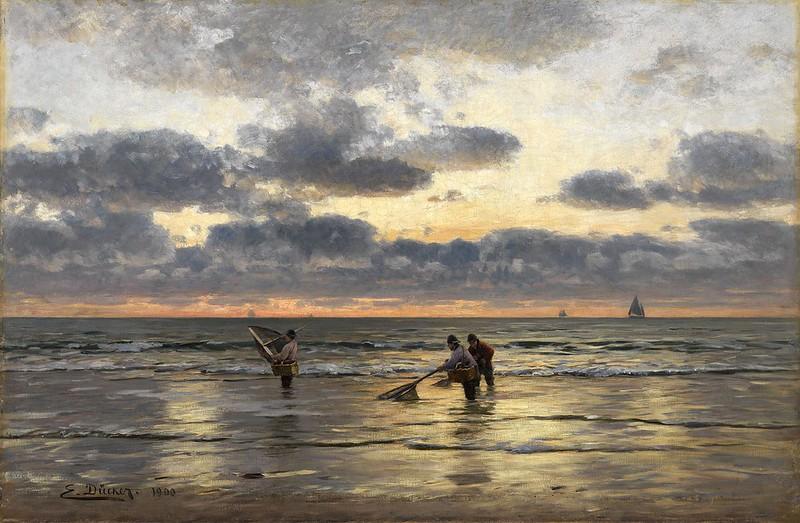 Evgeny Ducker - Fishing At Dawn [1900]