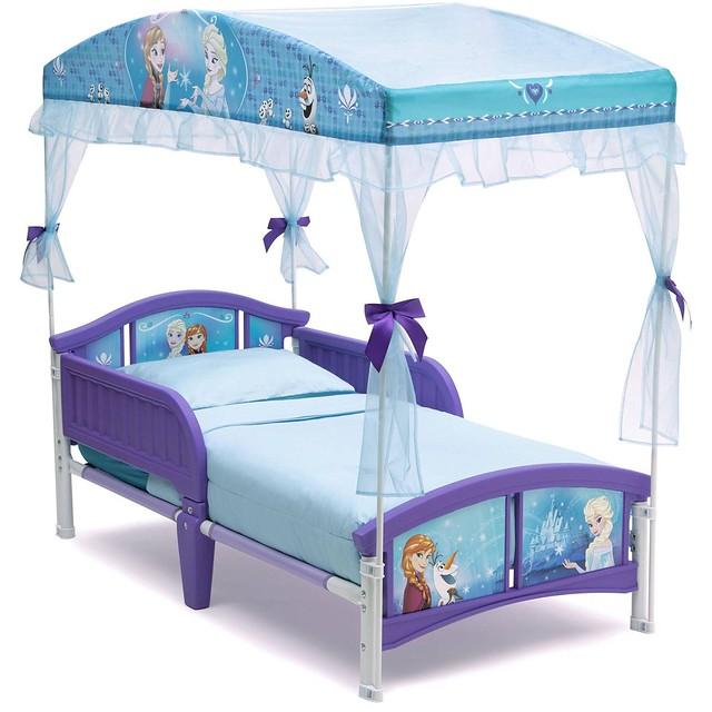 Delta Frozen Canopy Bed Elsa Cama Niña De Plástico Con Carpa 1