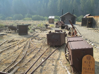 Historic mining artifacts