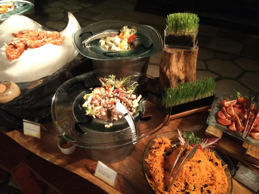 Various mix salads