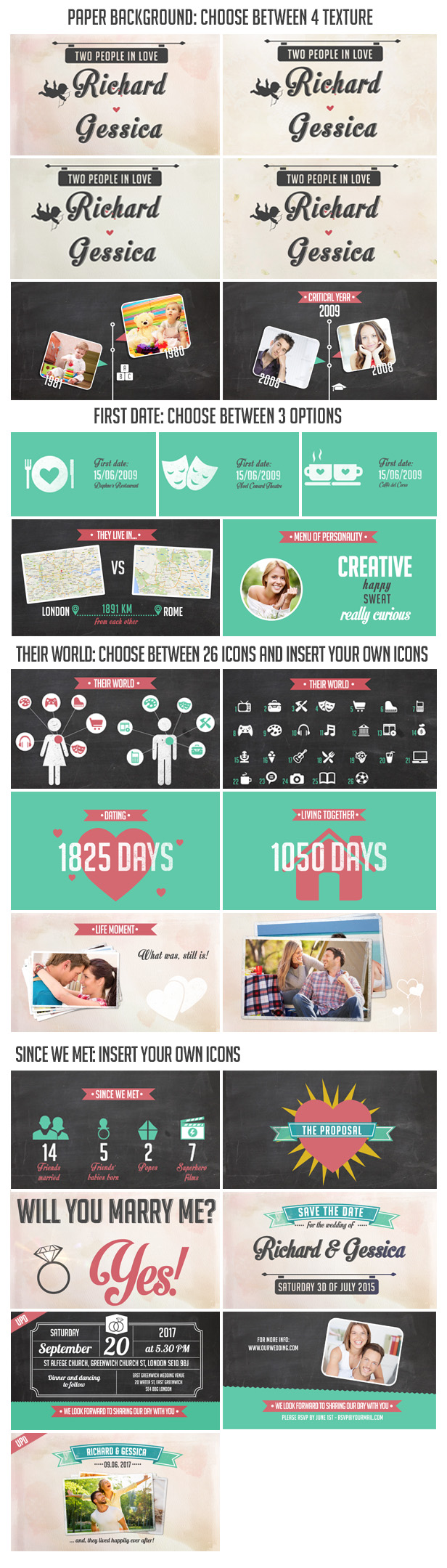 The story of us wedding invitation by creativethings videohive need help with the template read some faq or post a new topic in our forum stopboris Image collections
