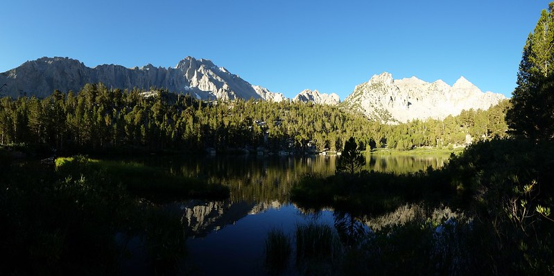 Dawn reflections on Gilbert Lake