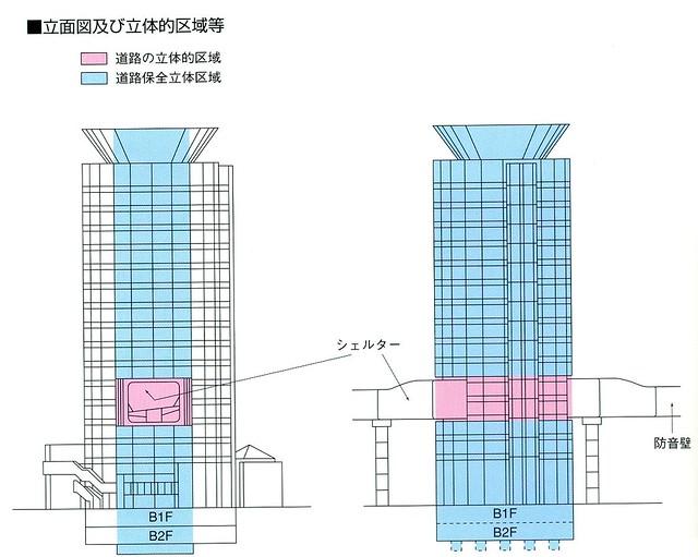 阪神高速道路梅田出口の立体道路区域 (1)