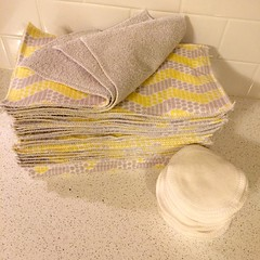 Reusable paper towels and cotton rounds