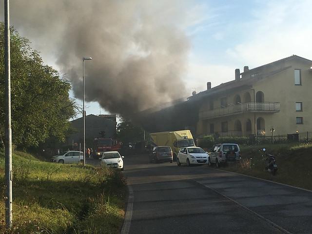 Incendio a Castel Giorgio