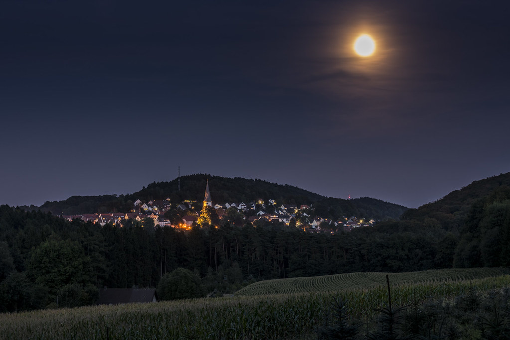 Oerlinghausen full moon night