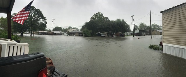 Flooded street in Louisiana