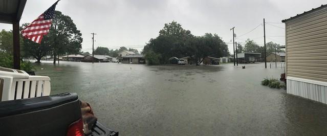 Flooded street in Louisiana